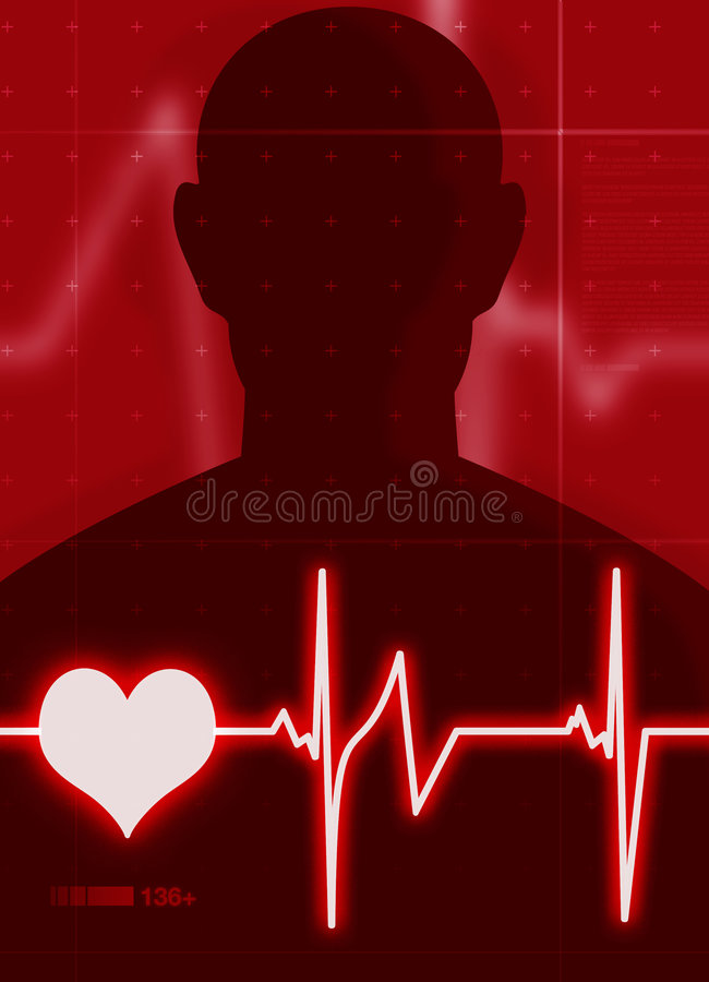 Het hart sloeg vector illustratie