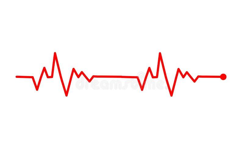 Het hart sloeg lijn Vectorillustratie vector illustratie