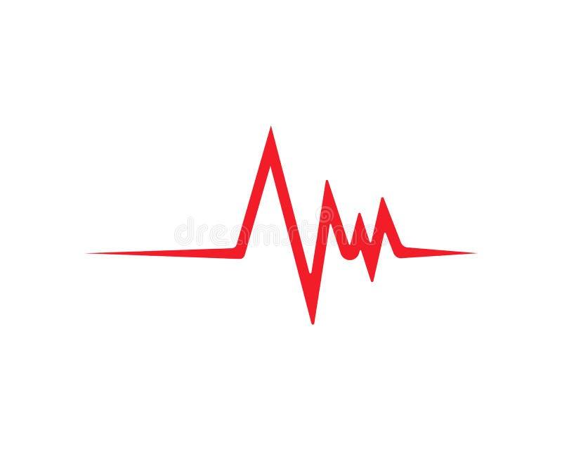 het hart sloeg lijn vectormalplaatje vector illustratie