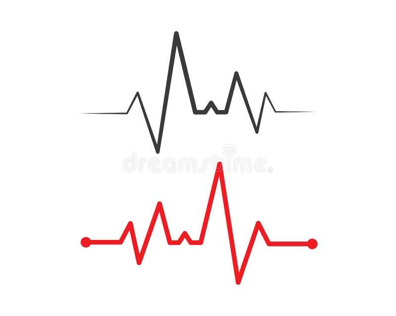 het hart sloeg lijnvector royalty-vrije stock afbeeldingen