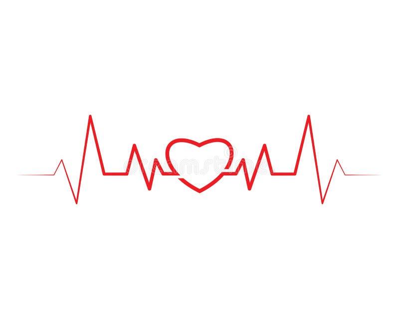 het hart sloeg lijnvector royalty-vrije illustratie