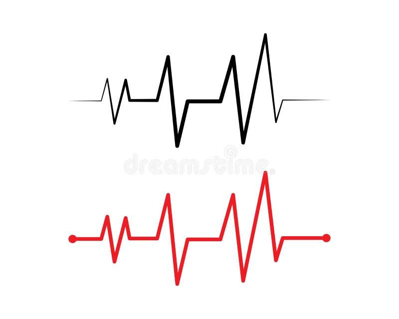 het hart sloeg lijnvector stock illustratie