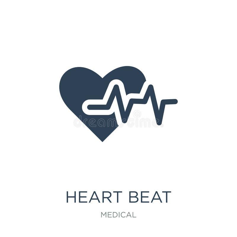 het hart sloeg pictogram in in ontwerpstijl het hart sloeg pictogram op witte achtergrond wordt geïsoleerd die het hart sloeg vec stock illustratie