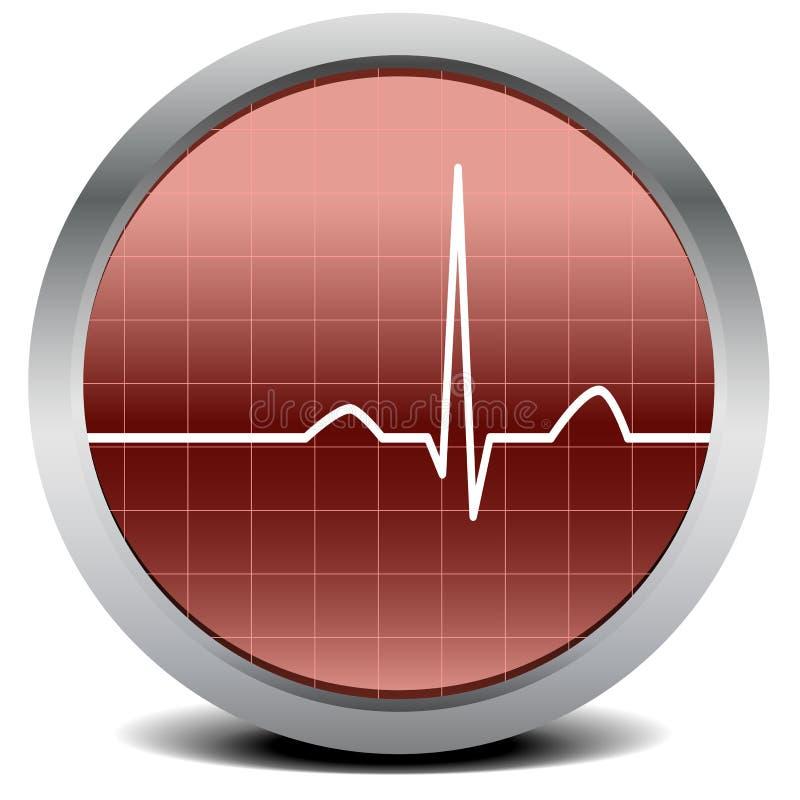 Het hart sloeg signaal royalty-vrije illustratie