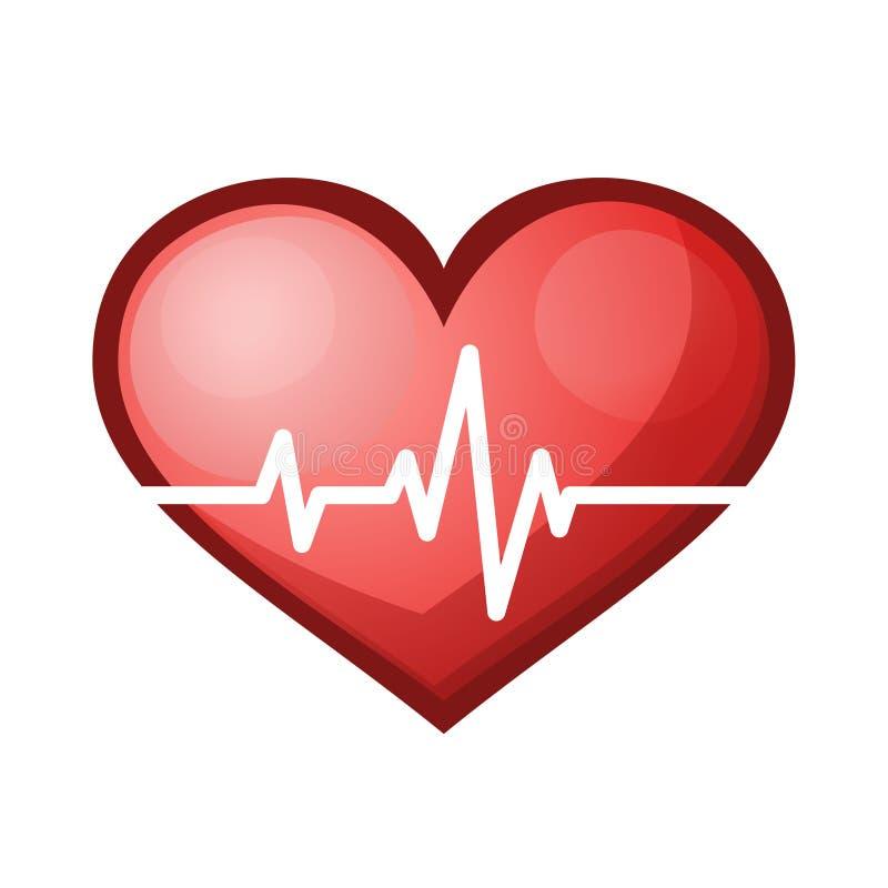 Het hart sloeg tariefpictogram, gezondheidszorgvector royalty-vrije illustratie