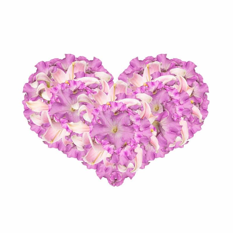 Het hart van bloemen stock afbeeldingen