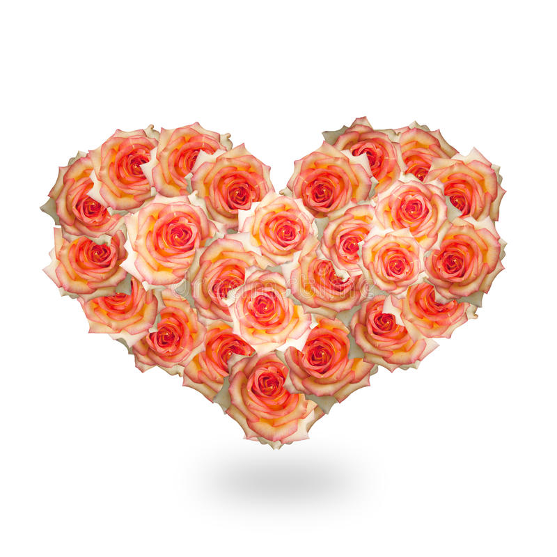 Het hart van bloemen stock foto's