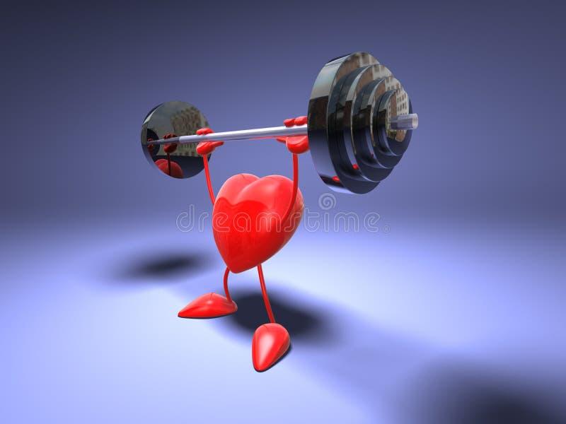 Het hart van Bodybuilding vector illustratie