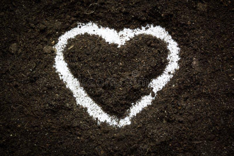 Het hart van de aardeliefde stock fotografie