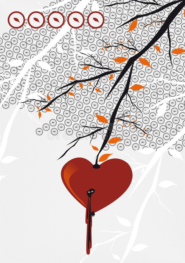 Het hart van de appel royalty-vrije illustratie