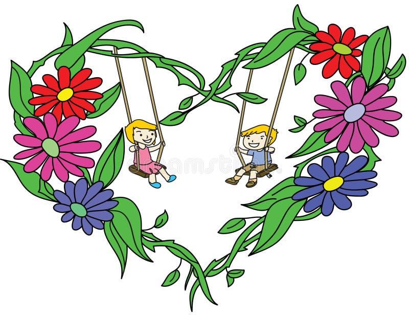 Het hart van de bloemen royalty-vrije stock fotografie