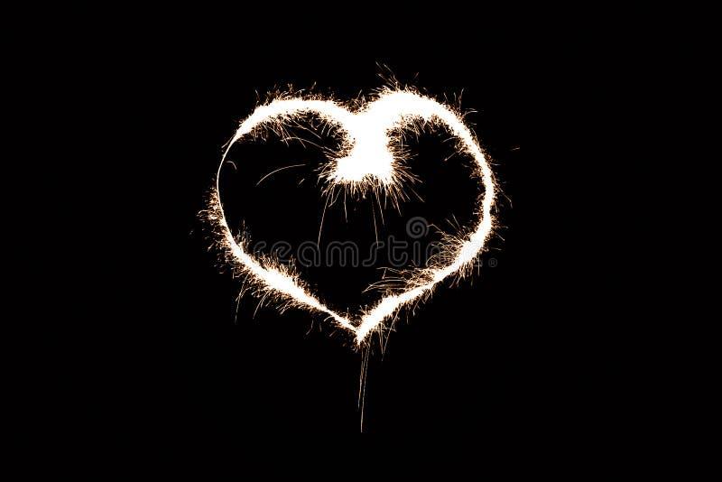 Het hart van de brand stock afbeelding
