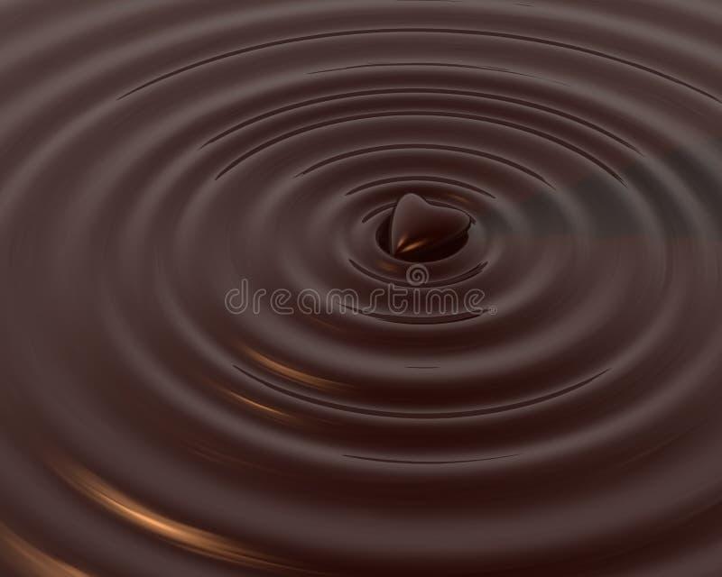 Het Hart van de chocolade vector illustratie