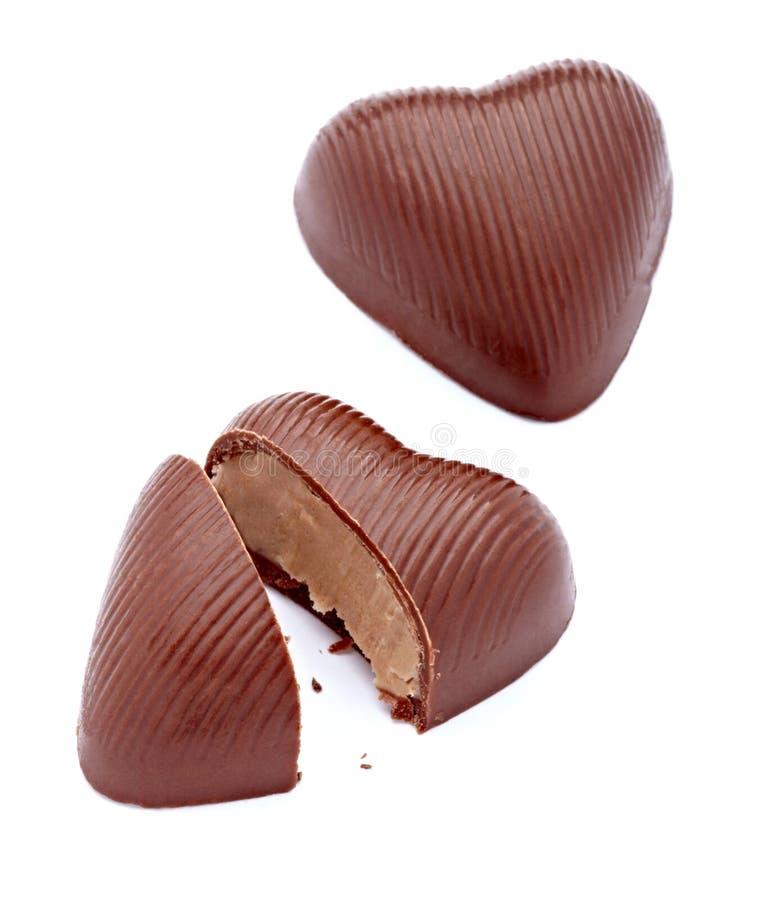 Het hart van de chocolade stock afbeeldingen