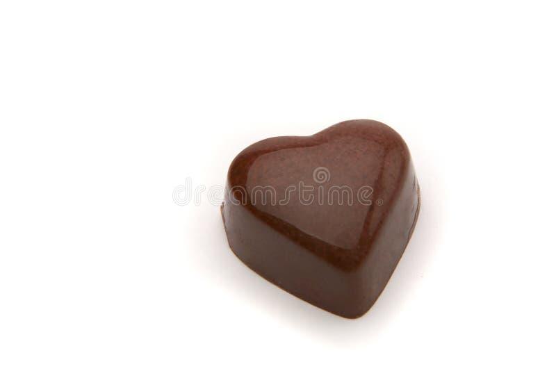 Het hart van de chocolade stock foto