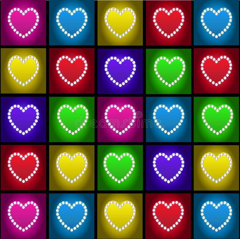 Het hart van de diamant vector illustratie