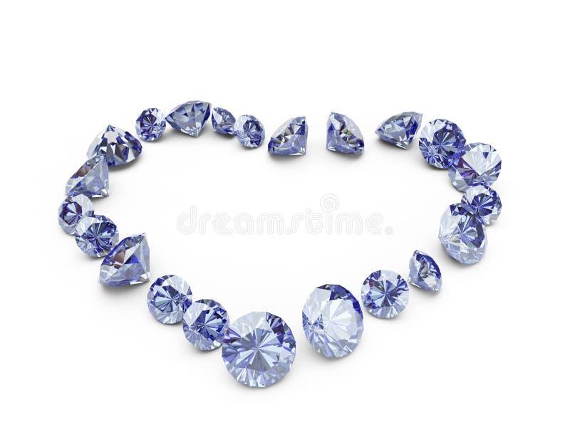 Diamanthart royalty-vrije stock foto's
