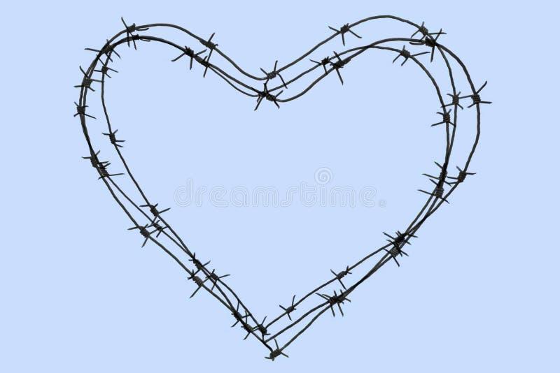 Het hart van de draad stock foto