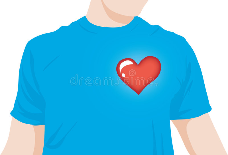Het hart van de jongen sloeg stock illustratie
