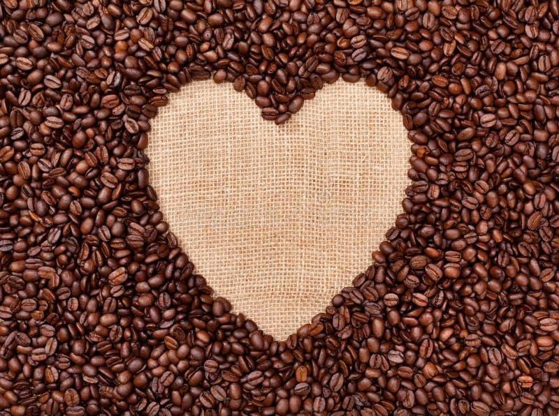 Het hart van de koffie royalty-vrije stock afbeeldingen