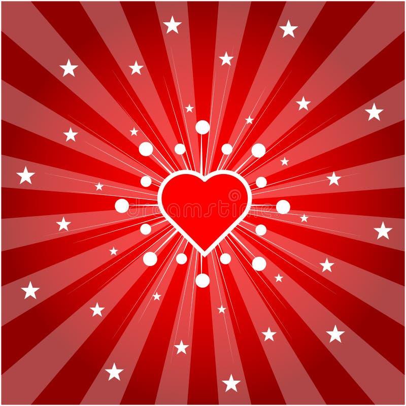 Het hart van de liefde (vector) vector illustratie