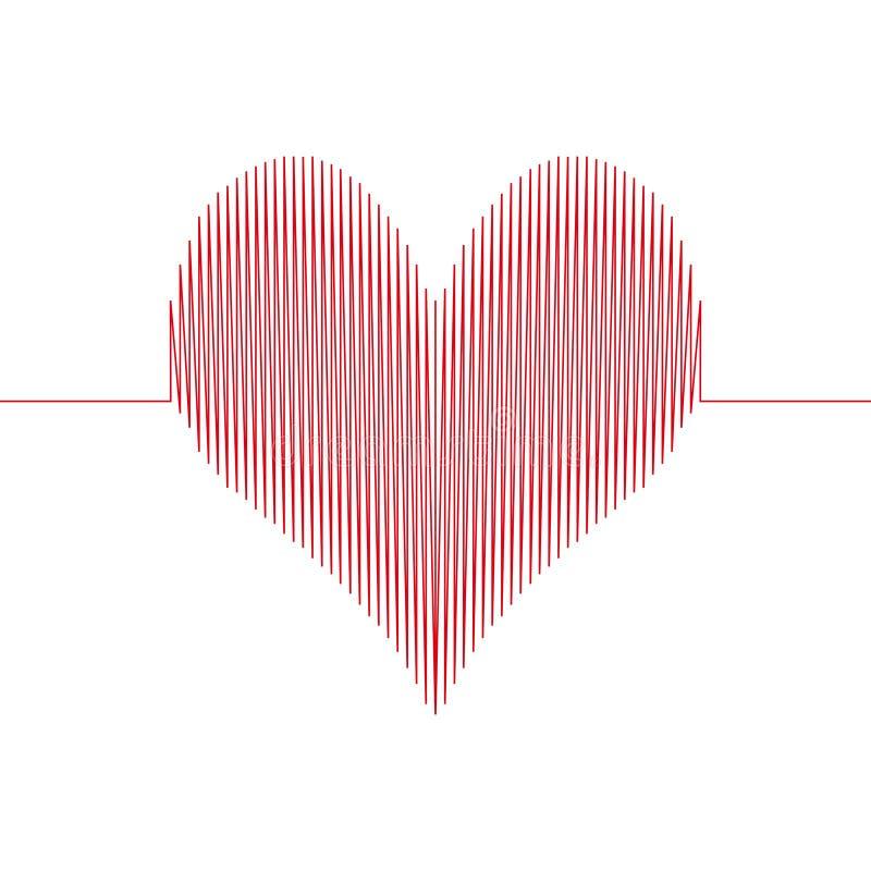 Het hart van de liefdegolf royalty-vrije illustratie