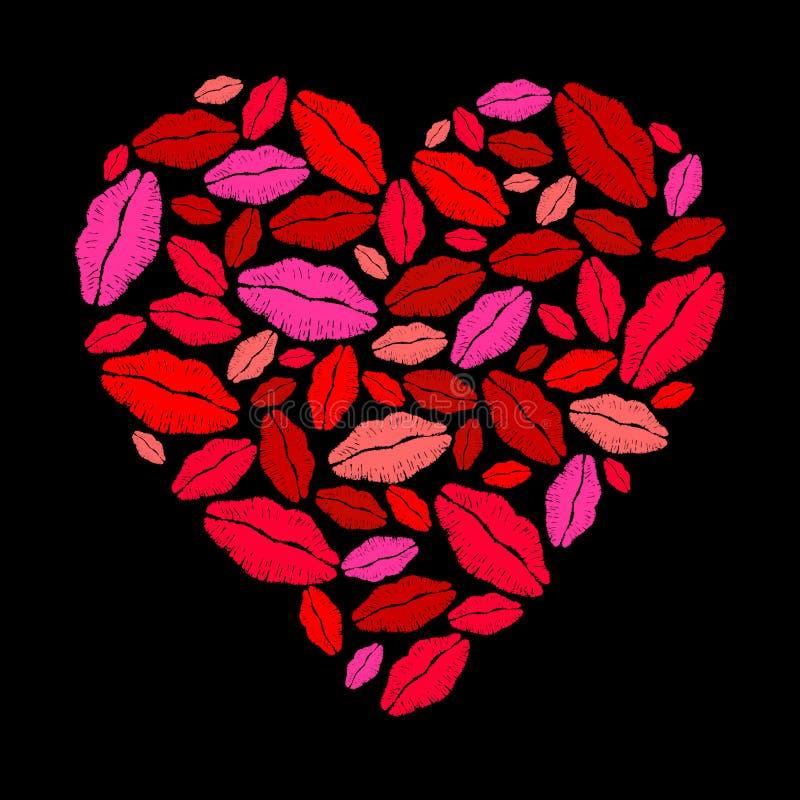 Het hart van de lippenstift stock illustratie