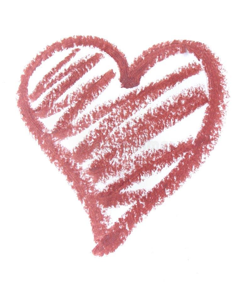 Het hart van de lippenstift stock foto