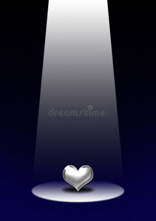 Het hart van de nadruk stock illustratie