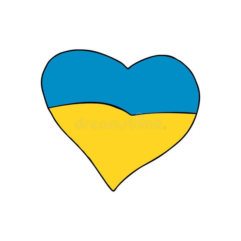 Het hart van de Oekraïne, Patriottisch symbool stock illustratie