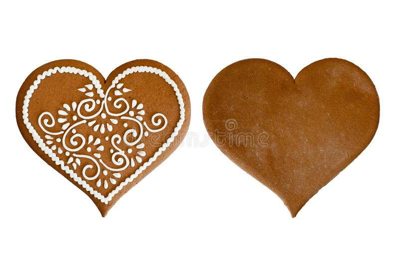 Het hart van de peperkoek royalty-vrije stock afbeeldingen