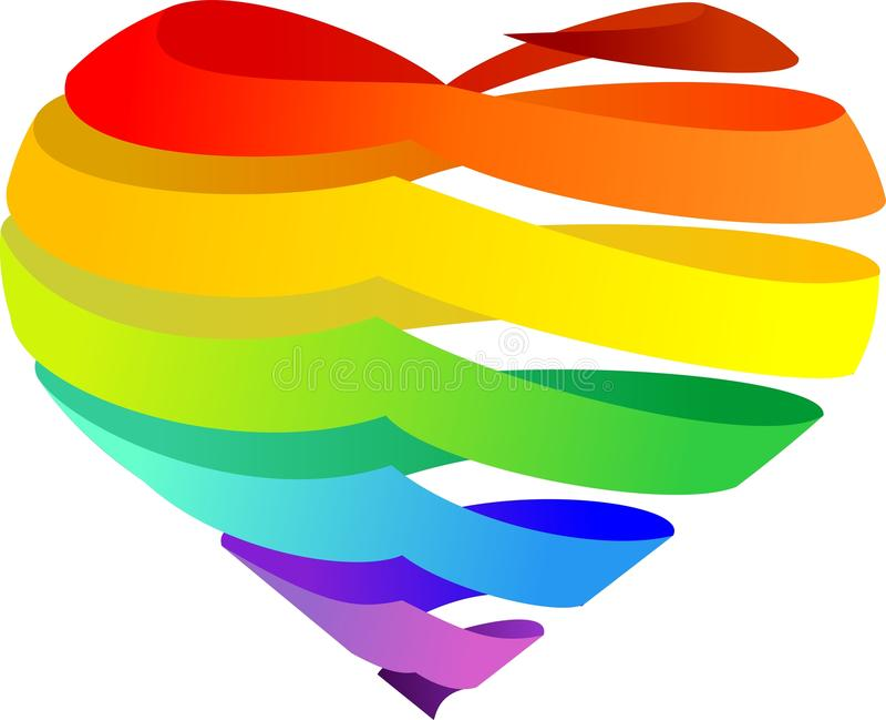 Het hart van de regenboog vector illustratie