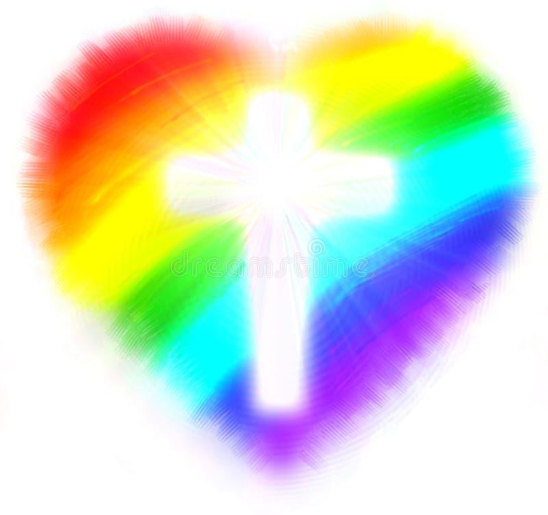 Het hart van de regenboog van liefde vector illustratie