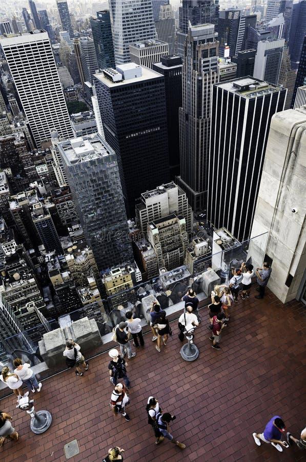 In het hart van de Stad van New York stock afbeeldingen
