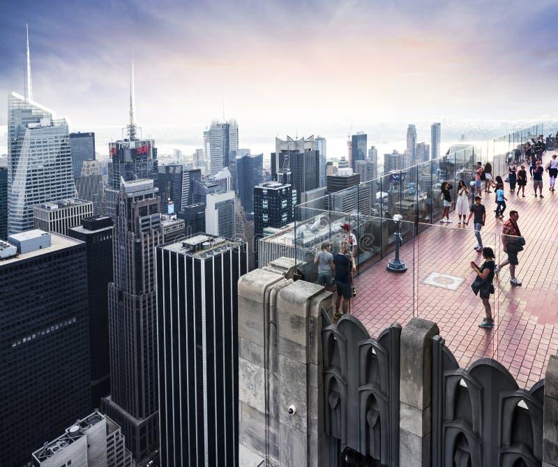 In het hart van de Stad van New York royalty-vrije stock foto