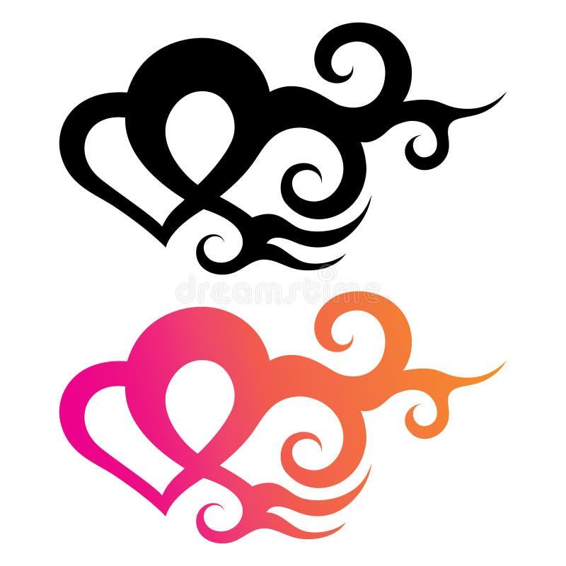 Het hart van de tatoegering vector illustratie