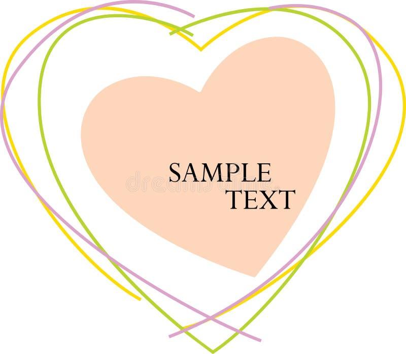 Het Hart van de Tekst van de steekproef vector illustratie