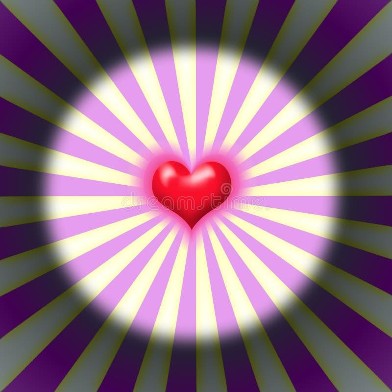 Het hart van de uitbarsting royalty-vrije illustratie