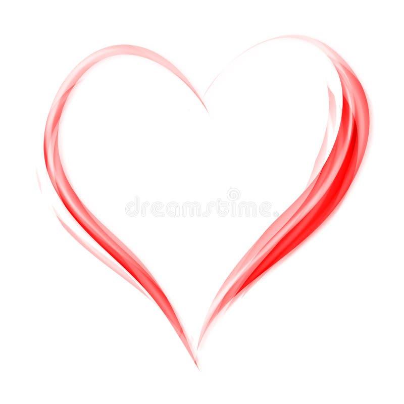 Het hart van de valentijnskaart vector illustratie