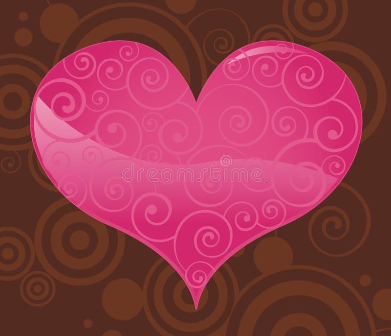 Het Hart van de valentijnskaart royalty-vrije illustratie