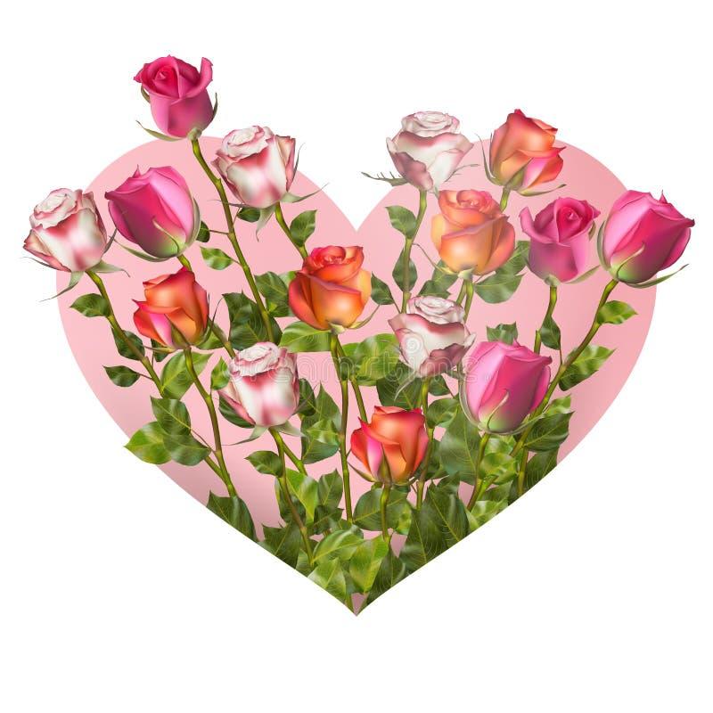 Het Hart van de valentijnskaartendag Eps 10 royalty-vrije illustratie