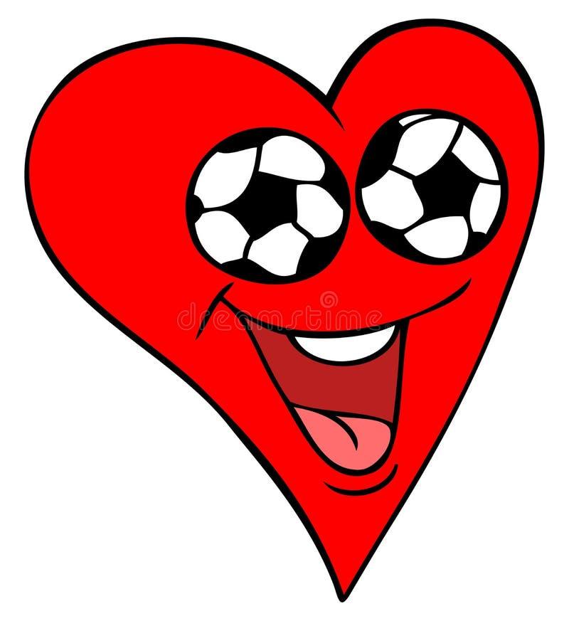 Het Hart van de Ventilator van het voetbal stock illustratie