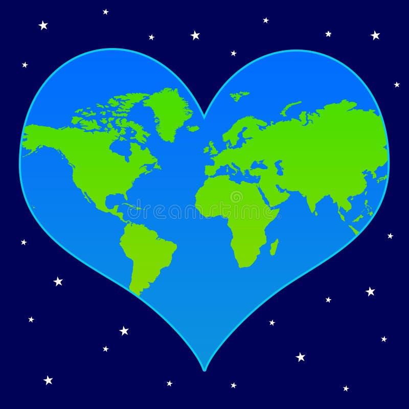 Het hart van de wereld royalty-vrije illustratie
