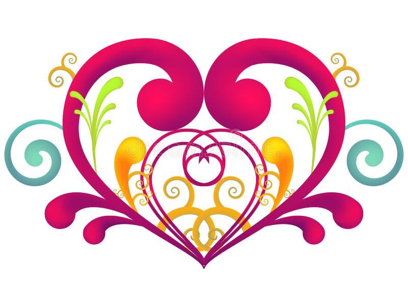 Het hart van de werveling royalty-vrije illustratie