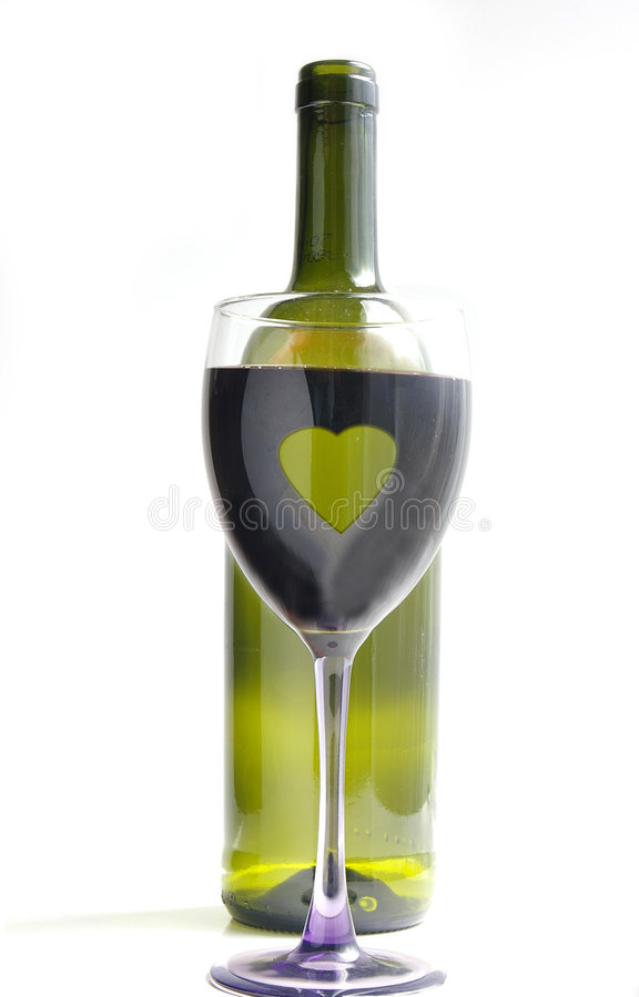 Het hart van de wijn royalty-vrije stock foto's