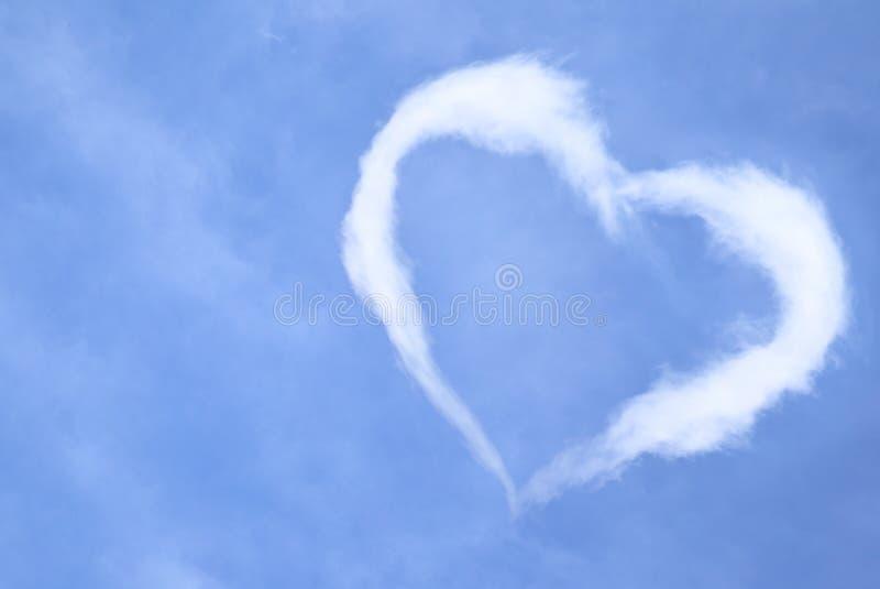 Het hart van de wolk stock fotografie