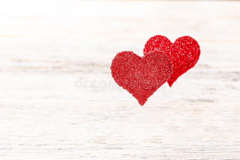 Het hart van Floaty backgrounde royalty-vrije stock afbeeldingen