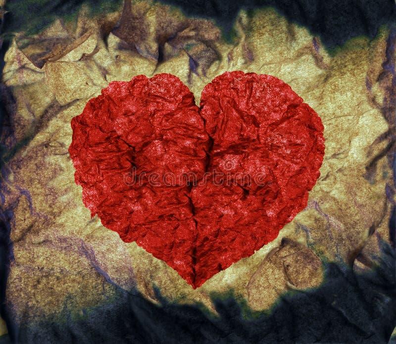 Het hart van Grunge vector illustratie