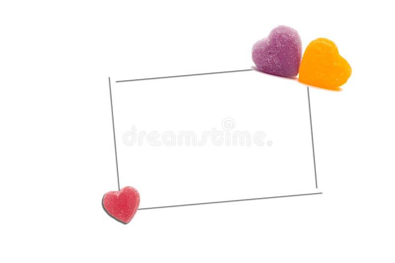 Het hart van het document stock foto
