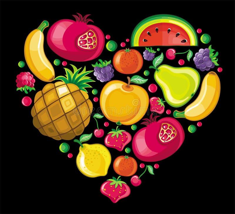Het hart van het fruit vector illustratie
